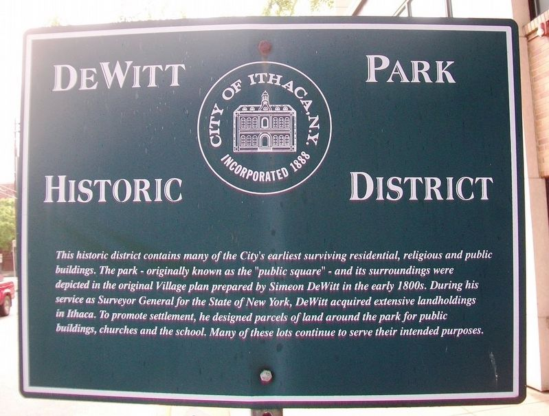 DeWitt Park Historic District Marker image. Click for full size.