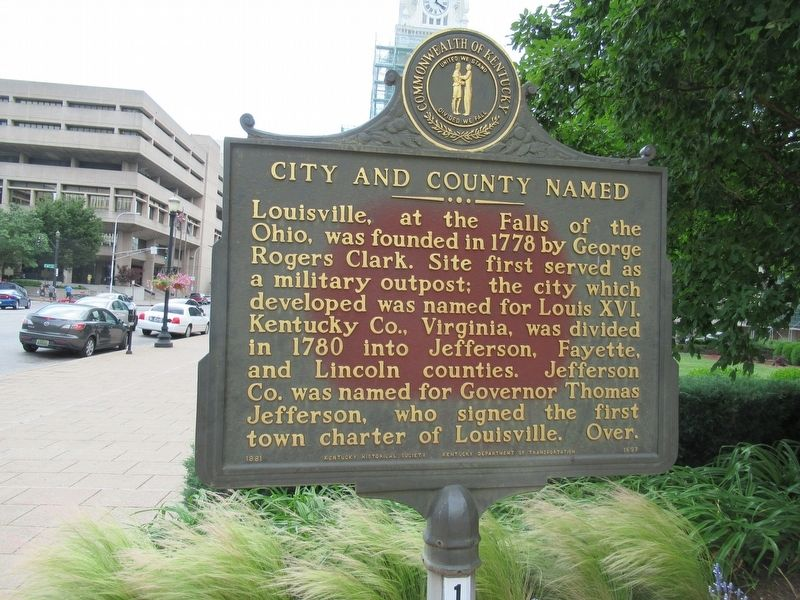 City and County Named Marker image. Click for full size.
