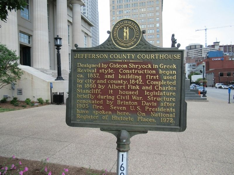 Jefferson County Courthouse Marker image. Click for full size.