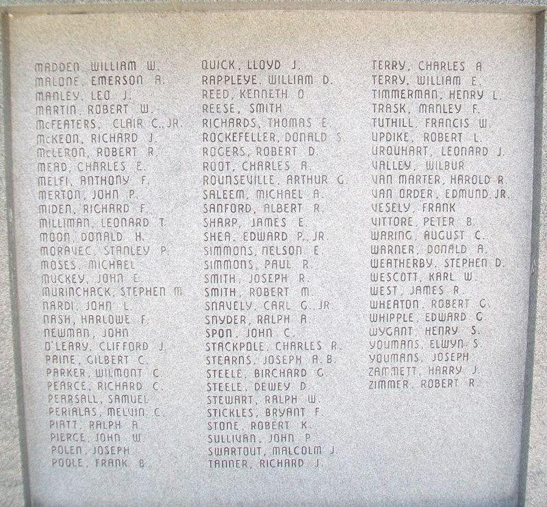 Tompkins County World War II Honor Roll image. Click for full size.