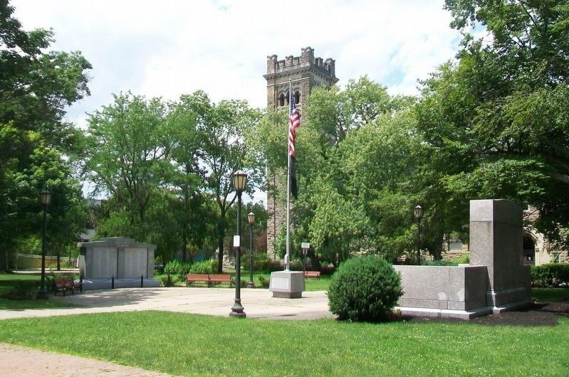 Tompkins County War Memorials in DeWitt Park image. Click for full size.