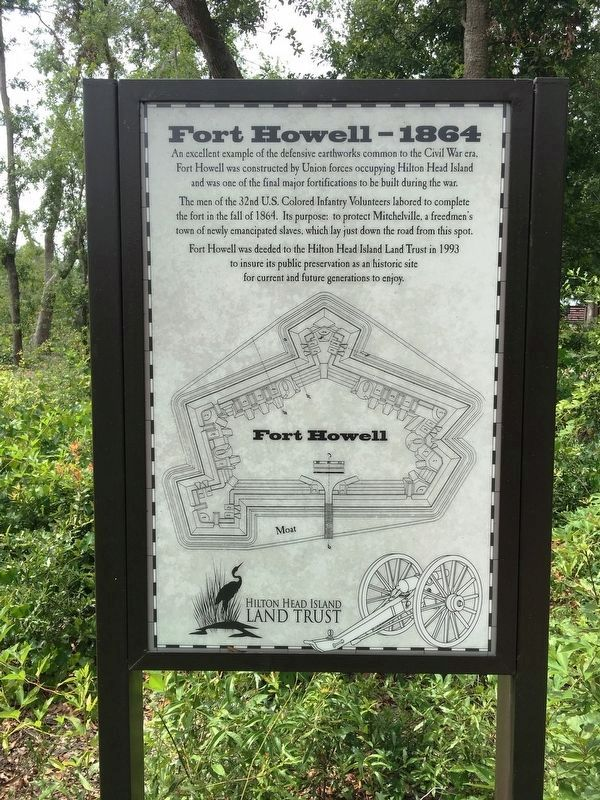 Fort Howell - 1864 Marker image. Click for full size.