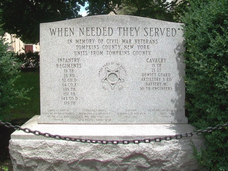 Tompkins County Civil War Memorial image. Click for full size.