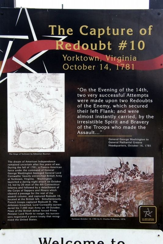 The Capture of Redoubt #10 Marker image. Click for full size.