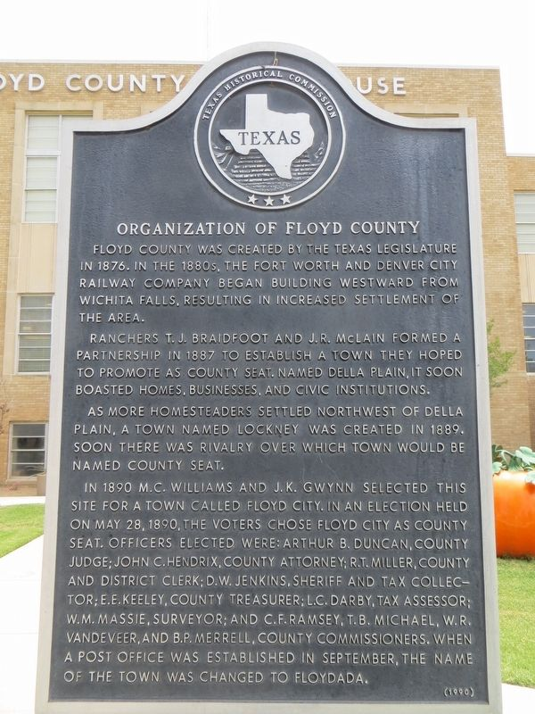 Organization of Floyd County Marker image. Click for full size.