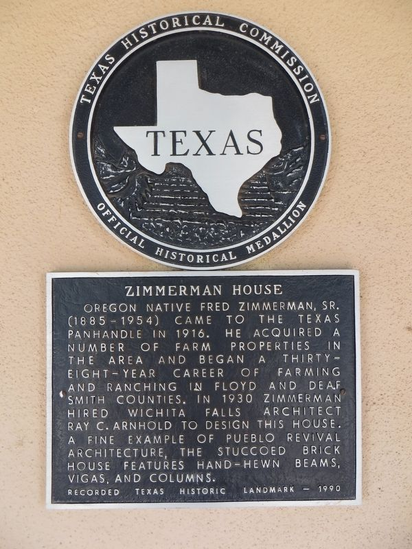 Zimmerman House Marker image. Click for full size.