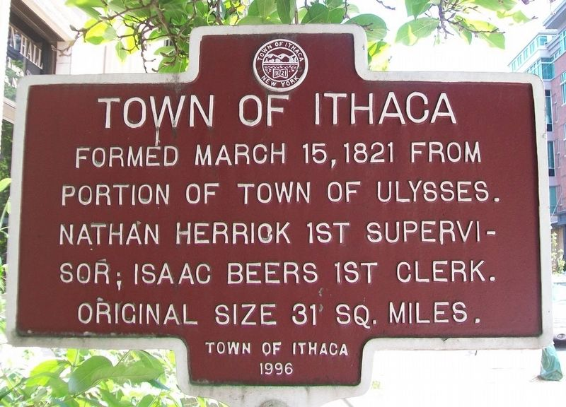 Town of Ithaca Marker image. Click for full size.