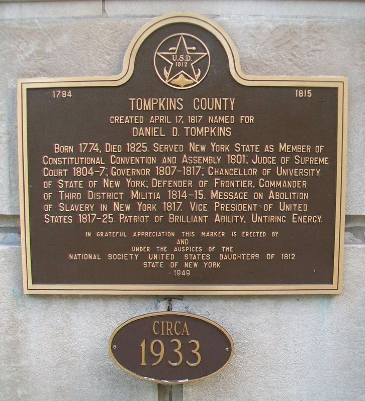 Tompkins County Marker image. Click for full size.