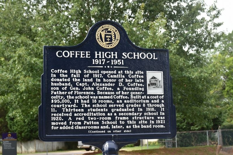 Coffee High School Marker image. Click for full size.