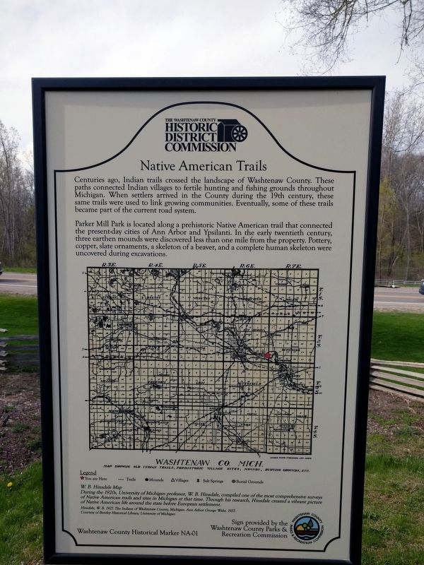 Native American Trails Marker image. Click for full size.