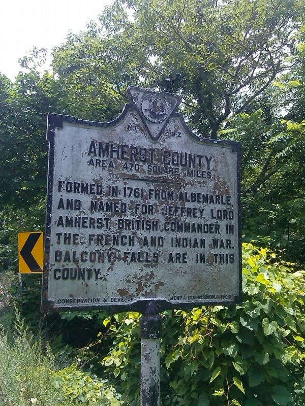 Amherst / Rockbridge County Marker image. Click for full size.