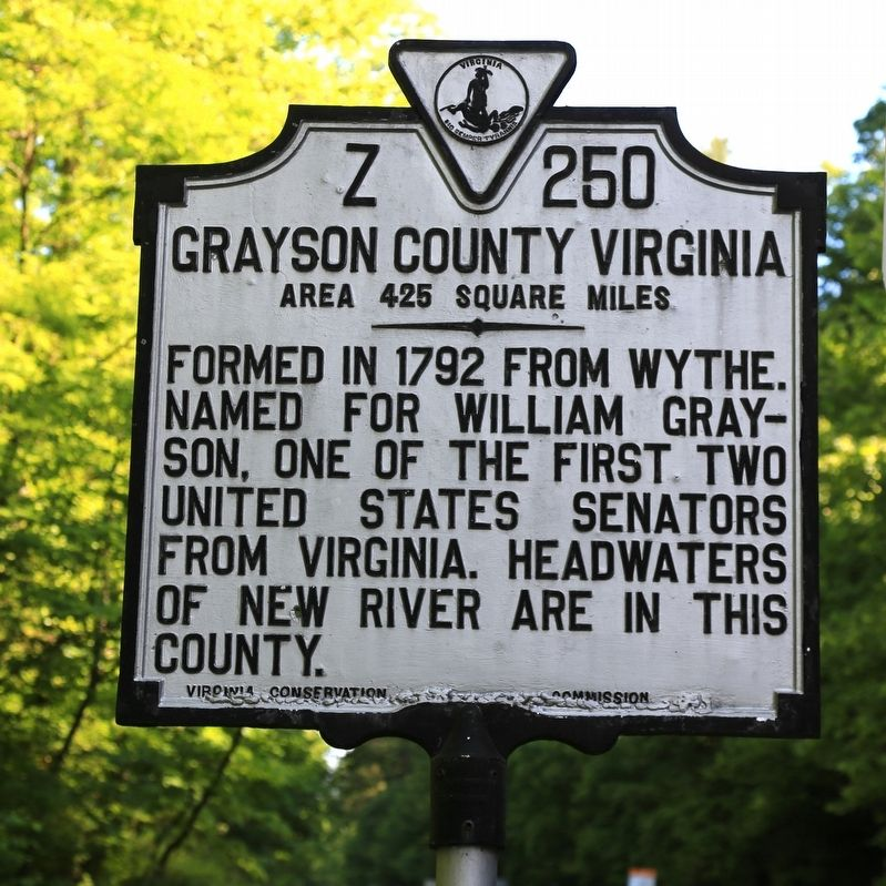 Grayson County Virginia Face of Marker image. Click for full size.