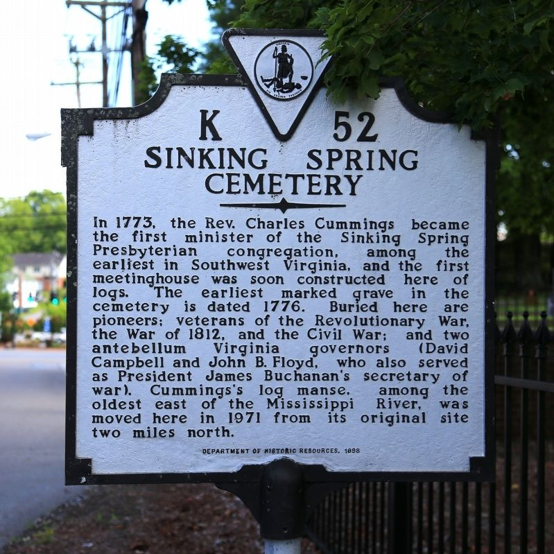 Sinking Spring Cemetery Marker image. Click for full size.