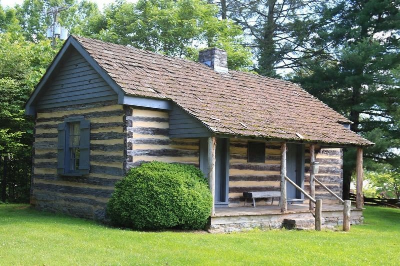 The Rev. Charles Cummings's Log House image. Click for full size.