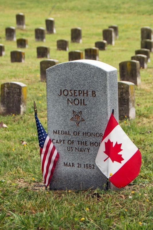 Joseph B. Noil-Medal of Honor Recipient-grave marker image. Click for full size.