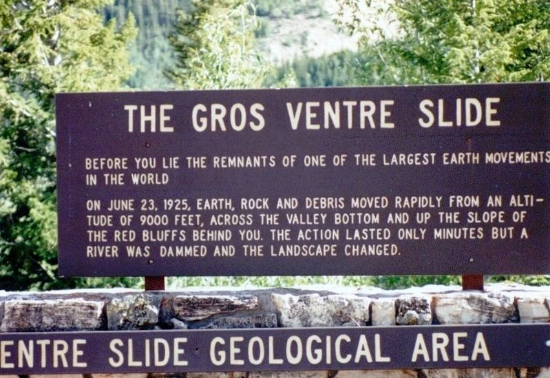The Gros Ventre Slide Marker image. Click for full size.