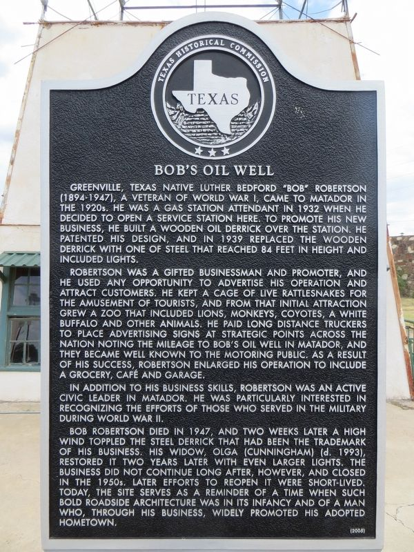 Bob's Oil Well Marker image. Click for full size.