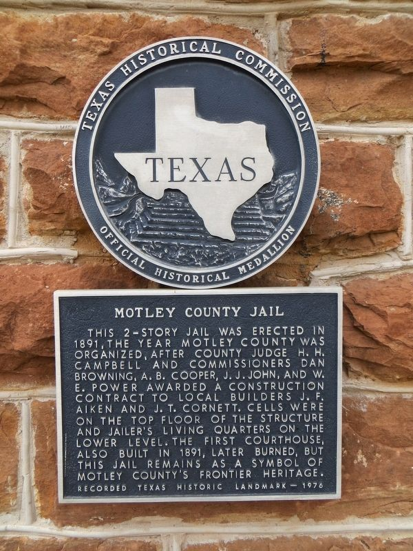 Motley County Jail Marker image. Click for full size.