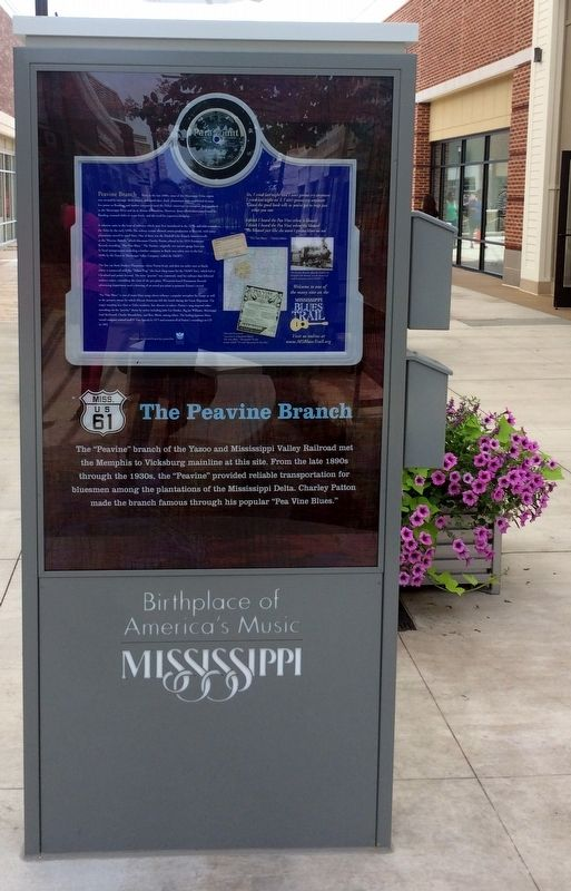 The Peavine Branch Marker image. Click for full size.