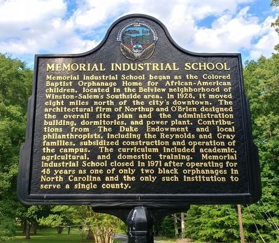 Memorial Industrial School Marker image. Click for full size.