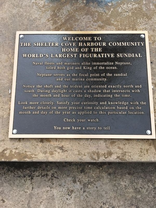 World's Largest Figurative Sundial Marker: Plaque 2 image. Click for full size.