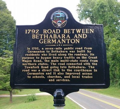 1792 Road Between Bethabara and Germanton Marker image. Click for full size.