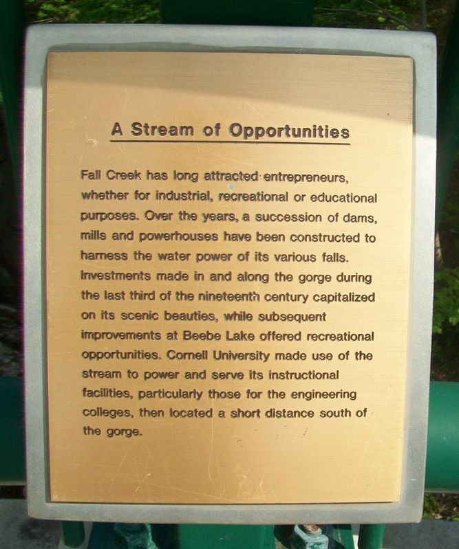 A Stream of Opportunities Marker image. Click for full size.