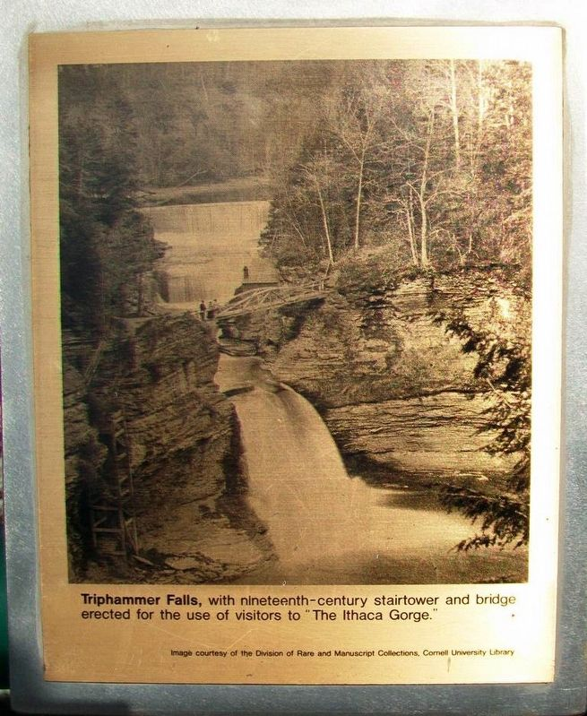 Triphammer Falls Marker image. Click for full size.