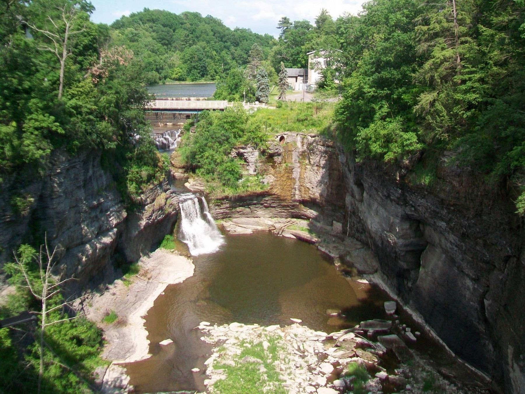 Triphammer Falls and Beebe Lake View from Bridge image. Click for full size.