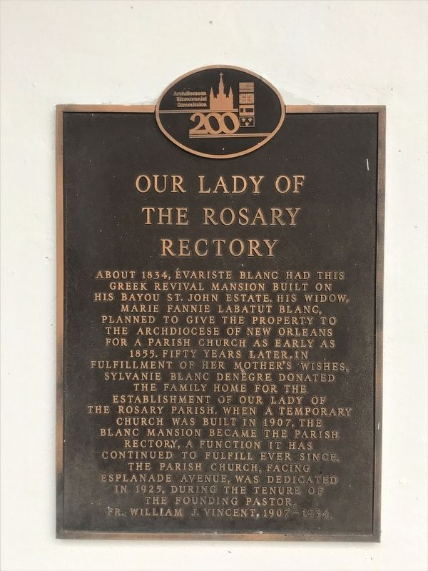 Our Lady of the Rosary Rectory Marker image. Click for full size.