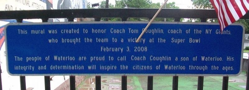 Coach Tom Coughlin Marker image. Click for full size.
