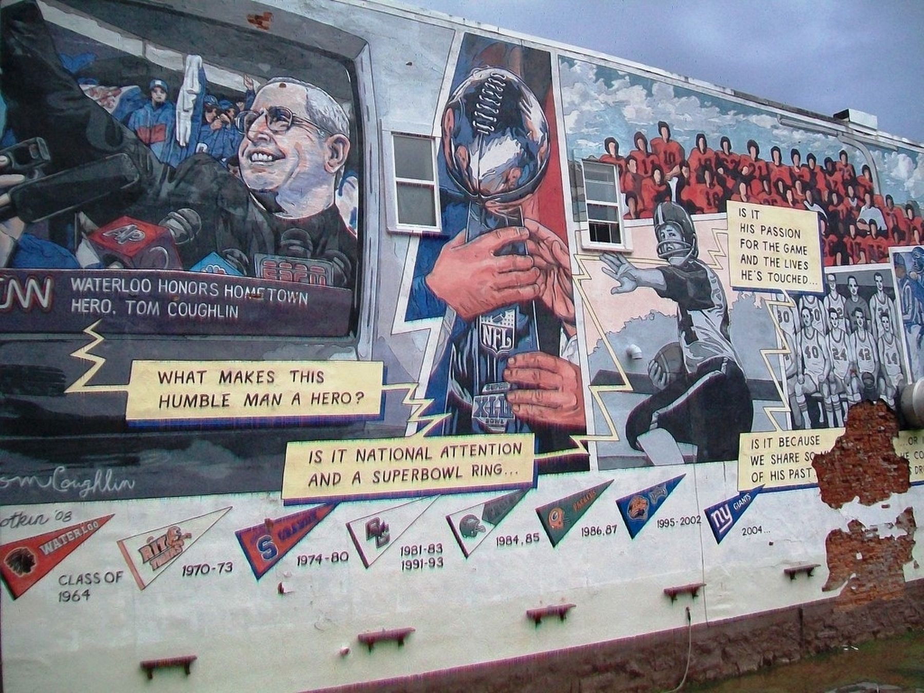 Coach Tom Coughlin Mural image. Click for full size.