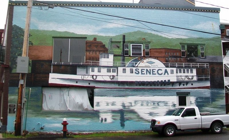 "The Steamer ""Seneca"" Mural and Marker image. Click for full size."