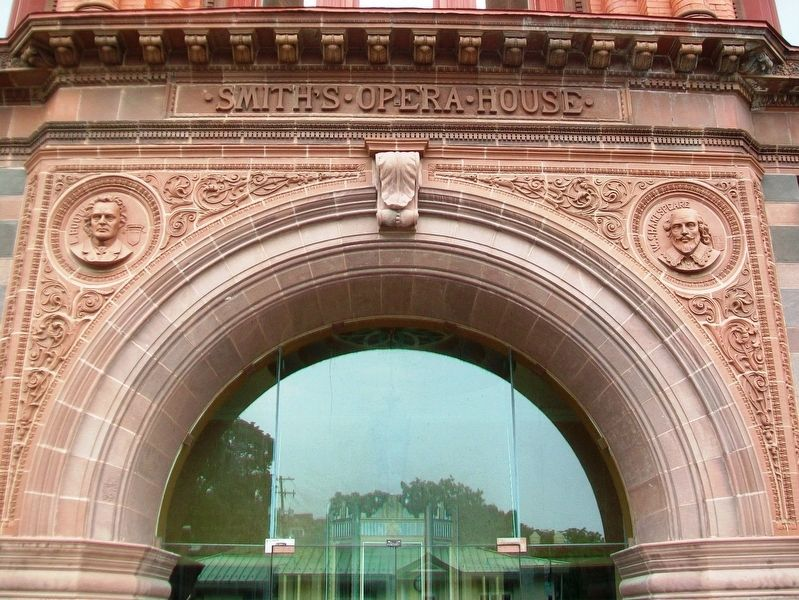 Smith's Opera House Entrance Detail image. Click for full size.