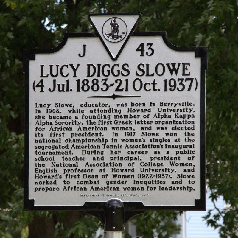 Lucy Diggs Slowe Marker image. Click for full size.