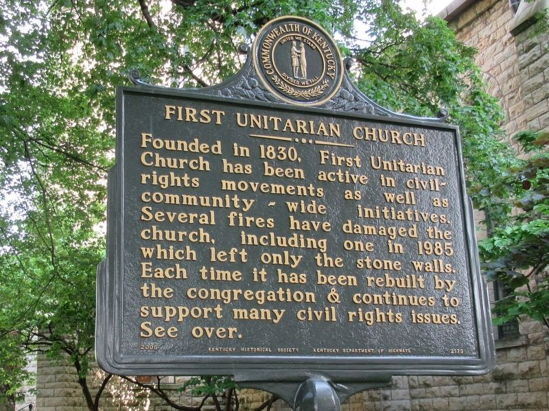 First Unitarian Church Marker image. Click for full size.