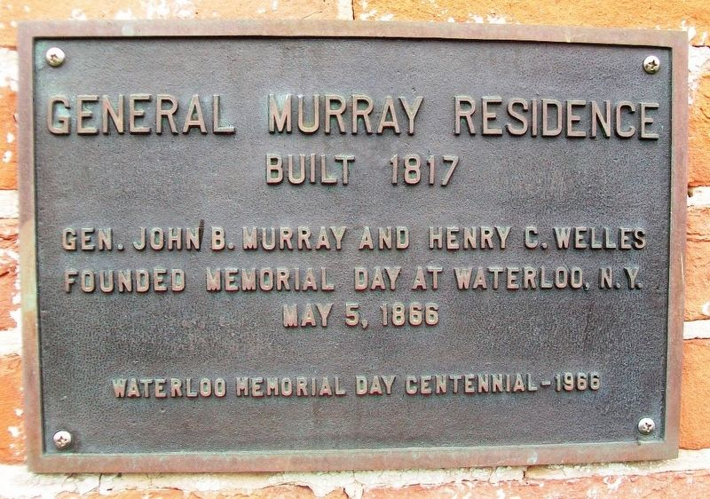 General Murray Residence Marker image. Click for full size.