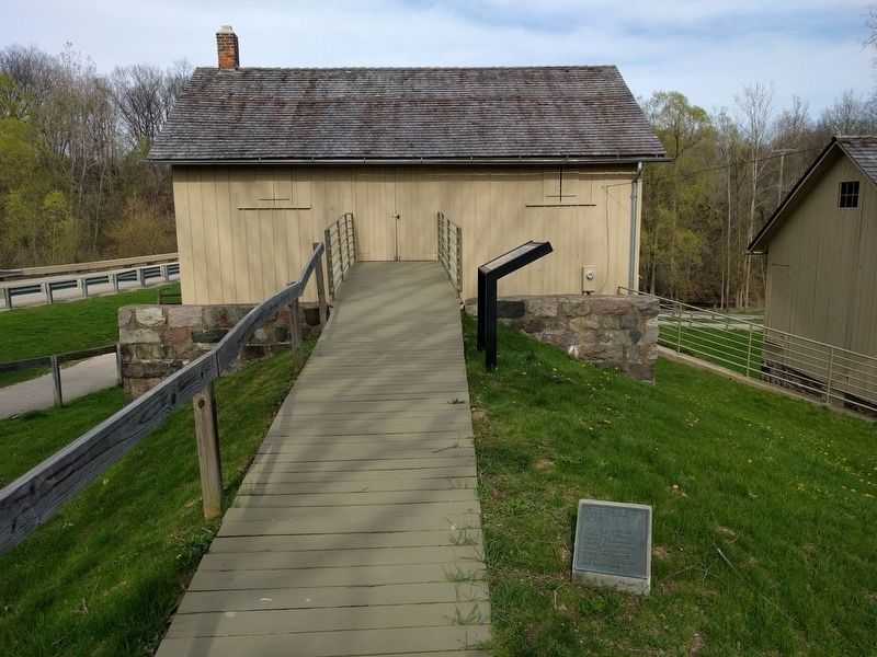 Grist Mill and Marker image. Click for full size.