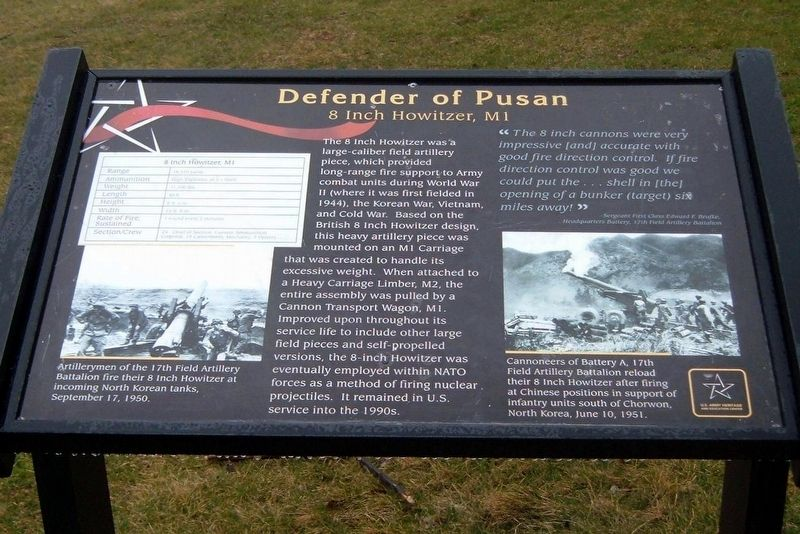 Defender of Pusan Marker image. Click for full size.