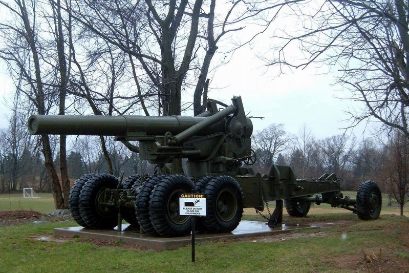 8 inch Howitzer M1 on display image. Click for full size.