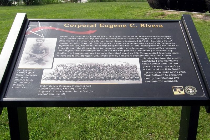 Corporal Eugene C. Rivera Marker image. Click for full size.