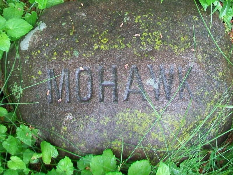 Mohawk Six Nations stone at base of Red Jacket Monument image. Click for full size.