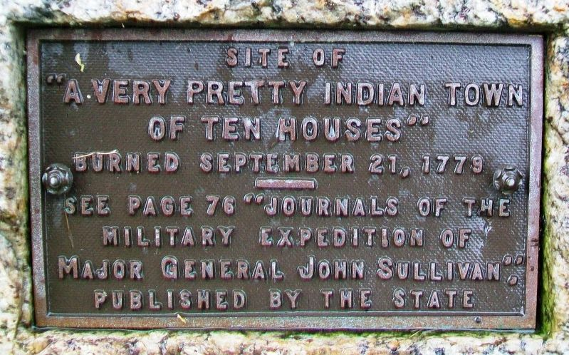 """A Very Pretty Indian Town of Ten Houses"" Marker image. Click for full size."