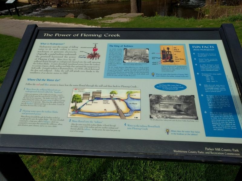 The Power of Fleming Creek Marker image. Click for full size.