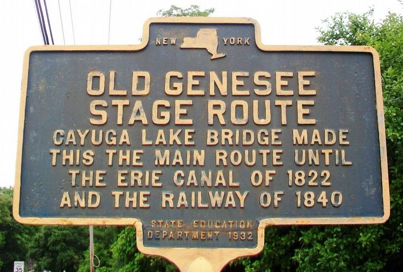 Old Genesee Stage Route Marker image. Click for full size.