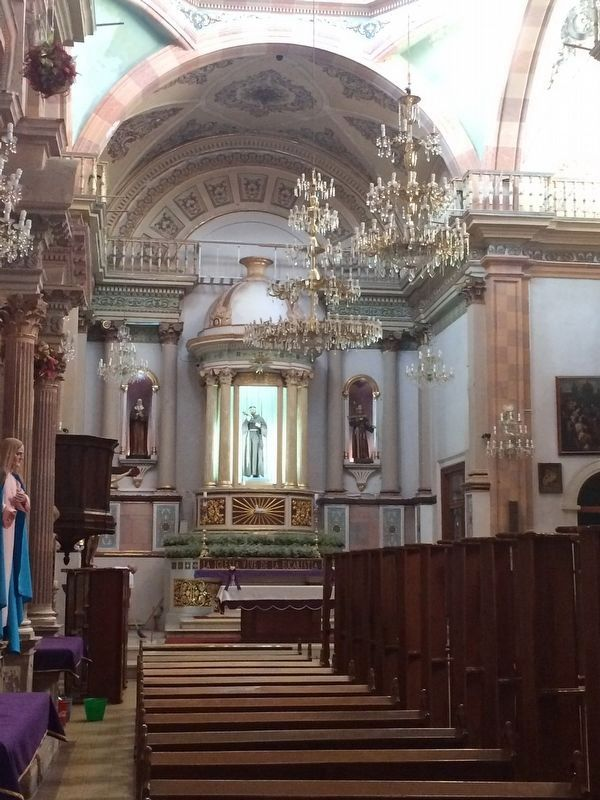 An interior view of the Temple of San Juan Bautista image. Click for full size.