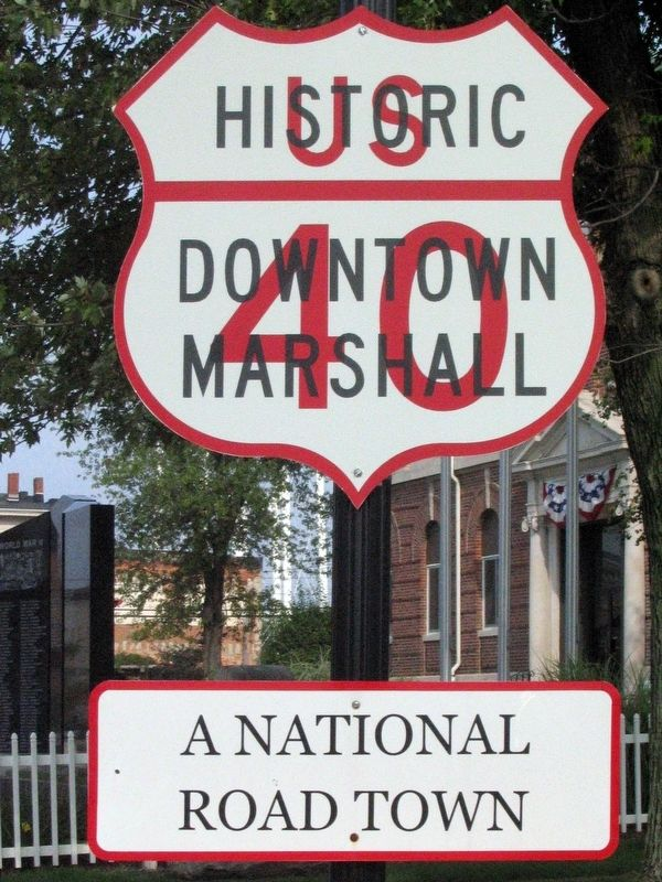 Historic Downtown Marshall<br>US 40<br>A National Road Town image. Click for full size.