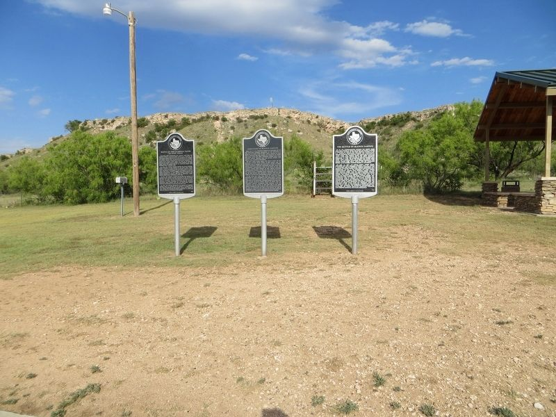 Roots of the Catholic Faith in West Texas Marker <i>on the left</i> image. Click for full size.