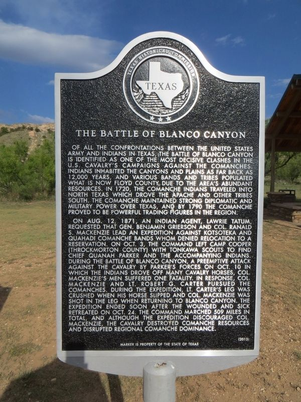 The Battle of Blanco Canyon Marker image. Click for full size.