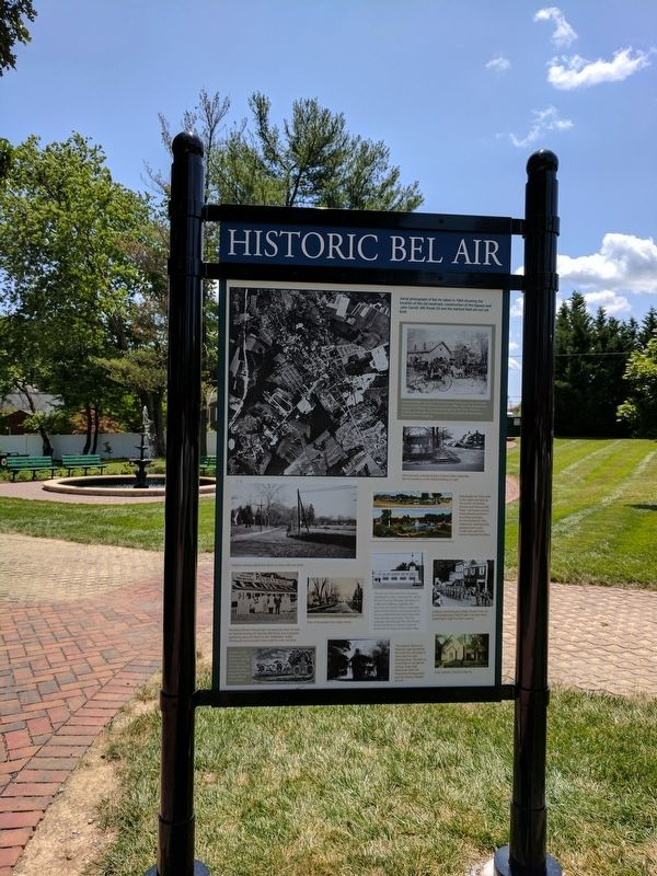 Historic Bel Air Marker image. Click for full size.